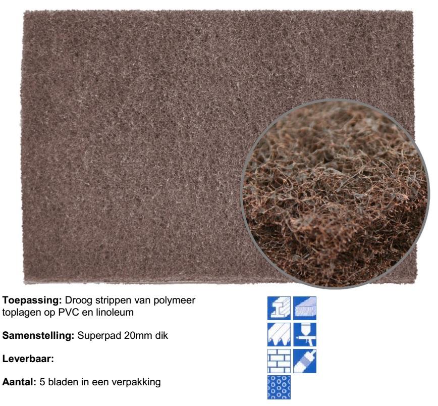 Bruine pad