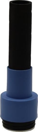 Dustcare adapter blauw buitenmaat Ø 38 mm. en universele flexibele aansluitmof