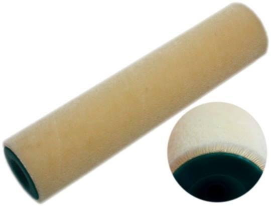 Olie roller openstaand velours, 25 cm. snelsluiting wegwerp