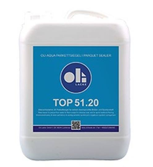 OLI AQUA TOP 2K parketlak 51.20 ultramat 5 liter plus 0,5 liter harder 13.1