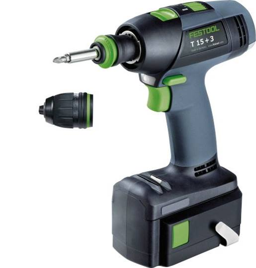 Festool Accuschroefboormachine T12+3 Li3,0 Plus in Systainer T-loc met 2de accu