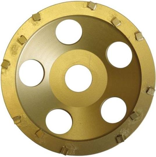 PKD komvlakschijf Gold Ø 125 mm.