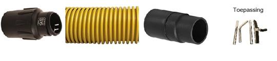 Duoline stofzuigerslang ESD Ø 38 mm. FESTOOL MACHINE/KIT Lengte 6,6 mtr.