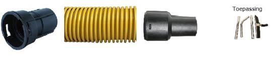 DUOLINE stofzuigerslang ESD 38mm STARMIX Lengte 6,6 mtr. met koppelstuk t.b.v. stofzuigerkit