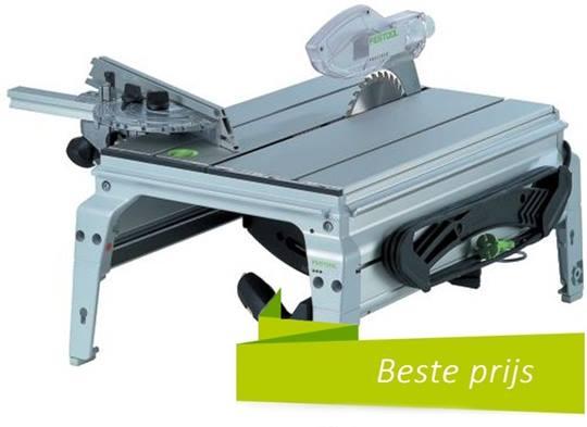 FESTOOL zaagtafel CS50EB Precisio-floor, incl. zaagblad 32T, hoekaanslag, duwstok