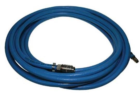 DUOLINE compressorslang 10 meter. met 9 mm. koppelingen -blauw-