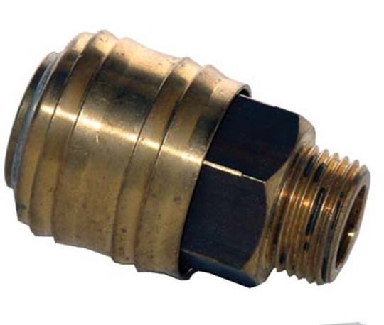ESSK-steekkoppelling 9 mm.- 3/8 buitendraads