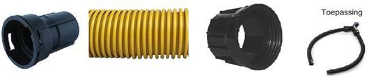 DUOLINE stofzuigerslang ESD Ø 38 mm. HITACHI lengte 6,6 mtr.met NUMATIC wartel