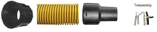 DUOLINE stofzuigerslang 38mm NUMATIC Lengte 6,6 mtr. met koppelstuk t.b.v. stofzuigerkit