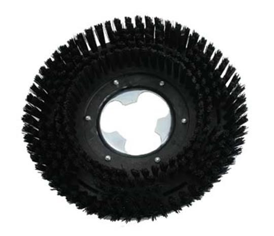 DUOLINE schrobborstel nylon zwart Ø 325 mm.