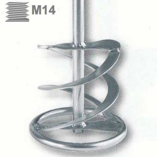 Menggarde met ring en 2 spiralen WR2 160x600  M14