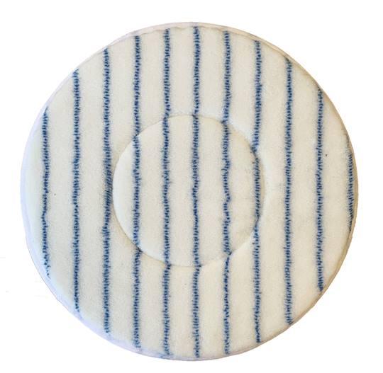 Duoline Microvezel Pad Ø 400 mm. / 16 inch Wit/Blauw Verpakt per 5 stuks