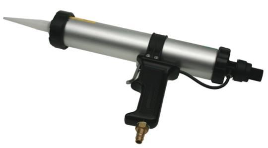 Persluchtpistool met ergonomisch gevormde handgreep.