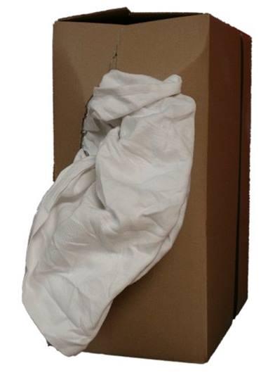 Katoenen pluisvrije droogwrijfdoek van DUOLINE®  (theedoek formaat) doos à 10 kg.