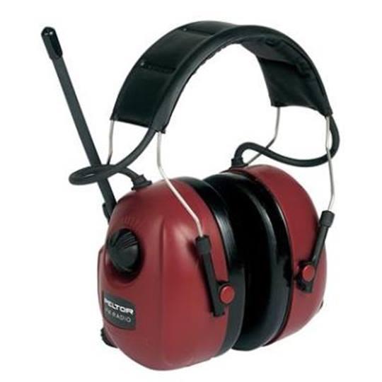 Gehoorbeschermer met radio en iPod aansluiting